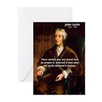 Philosophy John Locke Greeting Cards (Pk of 10