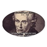 Universal Law: Kant Oval Sticker