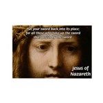 Jesus Peace and Love Rectangle Magnet