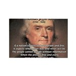 Media Thomas Jefferson Rectangle Magnet