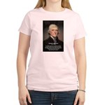 Media Thomas Jefferson Women's Pink T-Shirt