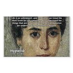 Wisdom of Greece: Hypatia Rectangle Sticker
