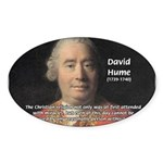 Christianity and David Hume Oval Sticker
