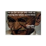 Peace Activist Gandhi Rectangle Magnet (100 pack)