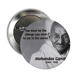 "Loyalty to Cause: Gandhi 2.25"" Button (100 pack)"