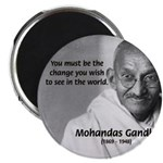 "Loyalty to Cause: Gandhi 2.25"" Magnet (100 pack)"