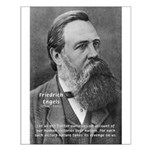 Nature versus Humanity: Engels Small Poster