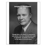 Peace and Justice Eisenhower Small Poster
