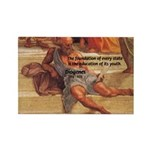 Cynic Philosophy Diogenes Rectangle Magnet
