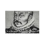 Power of Mind: Montaigne Rectangle Magnet (100 pac