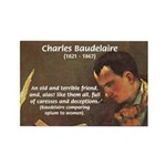 French Poets Baudelaire Rectangle Magnet (10 pack)