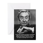 British Philosophy Ayer Greeting Cards (Package of