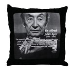 British Philosophy Ayer Throw Pillow