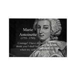Courage Marie Antoinette Rectangle Magnet (100 pac
