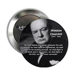 World War 2 Churchill Button