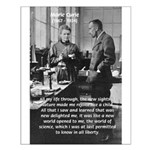 Marie Curie Physics Liberty Small Poster