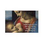 Woman and Child: Da Vinci Rectangle Magnet (100 pa