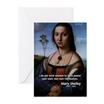 Mary Shelley Men / Women Greeting Cards (Package o
