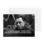 Albert Camus Motivational Greeting Cards (Package