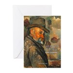 Cezanne Emotion Artistic Quote Greeting Cards (Pac