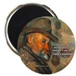 "Cezanne Emotion Artistic Quote 2.25"" Magnet (100 p"
