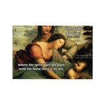Leonardo da Vinci Art Spirit Rectangle Magnet