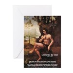 Leonardo da Vinci Quote Greeting Cards (Package of
