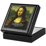 Mona Lisa: Da Vinci Quote Keepsake Box