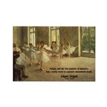 Degas Dancers Quote Rectangle Magnet (100 pack)