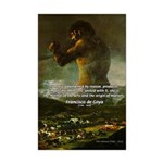 Goya Colossus Fantasy Quote Mini Poster Print