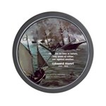 Manet Painting Color Quote Wall Clock