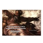 Michelangelo Perfection Quote Postcards (Package o