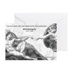 Michelangelo Creation of Adam Greeting Cards (Pack