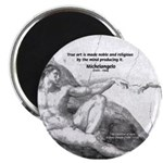 "Michelangelo Creation of Adam 2.25"" Magnet (100 pa"
