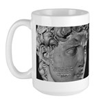 David with Michelangelo Quote Large Mug