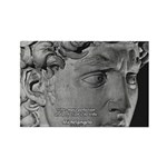 David with Michelangelo Quote Rectangle Magnet