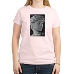 David with Michelangelo Quote Women's Pink T-Shirt