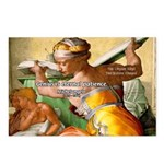 Words on Genius Michelangelo Postcards (Package of