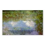 Monet Painting: Beauty Quote Rectangle Sticker