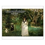 Berthe Morisot Art Quote Small Poster
