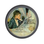 Female Artist Morisot Quote Wall Clock