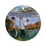 Renoir Painting: Art & Beauty Ornament (Round)