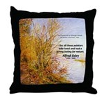 Alfred Sisley Nature Quote Throw Pillow