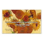 Van Gogh Painting & Quote Rectangle Sticker