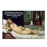 Freud Erotic Quote and Titian Postcards (Package of