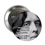 """Playwright Oscar Wilde 2.25"""" Button (10 pack)"""